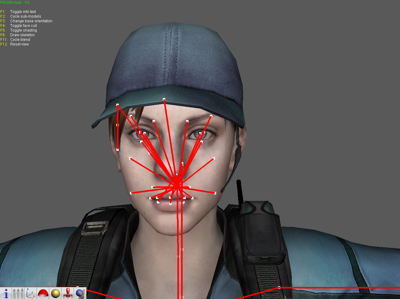 Need help editing the model (Jill BSAA without gears mod) |