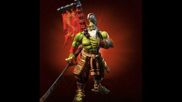 Steam Workshop Warcraft 3 Reforged Blademaster With Wc3 Logo On Fire