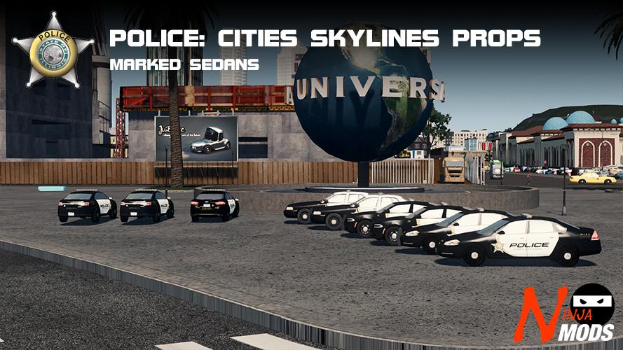 Police: CS Marked Sedans / Saloons Prop Pack - SKYMODS