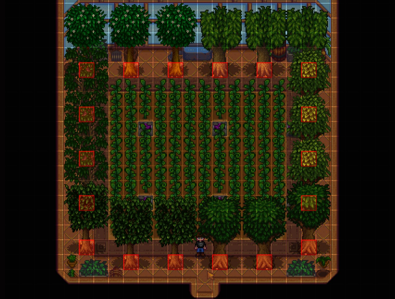 Steam Community Guide Greenhouse Layout Fruit Trees Ancient Fruits