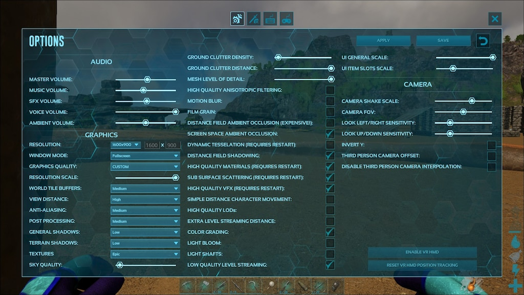 Steams gemenskap :: Skärmdump :: My settings for ark good