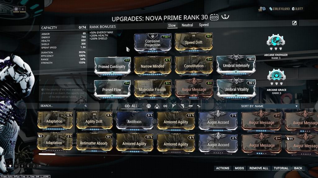 Steam Community Screenshot Umbral Nova Prime Molecular Fission Slow Almost Feels Like Nova Got A Rework Which Is What An Augment Should Do Imo Warframe nova build 2020 guide. steam community