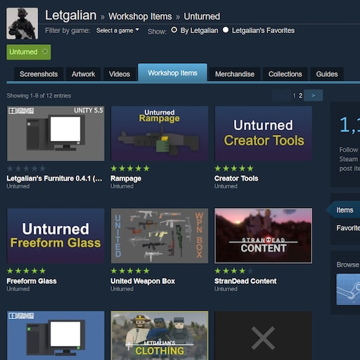 Steam Community :: Guide :: Workshop: Letgalian's Content
