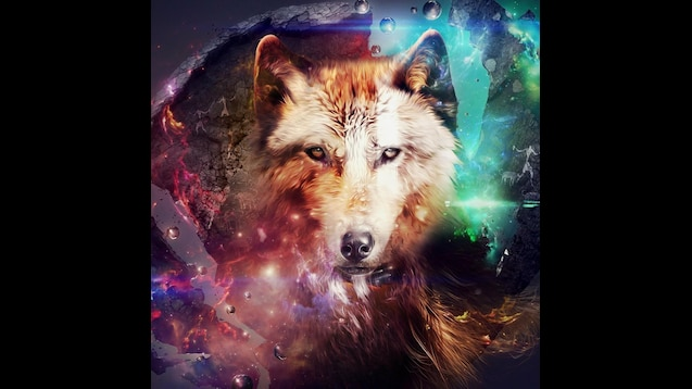 Steam Workshop Design Wolf Collage Space Desktop Hd Wallpaper