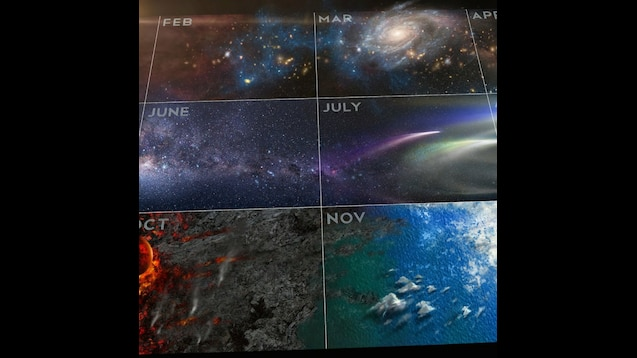 Cosmic Calendar.Steam Workshop The Cosmic Calendar From The New Cosmos