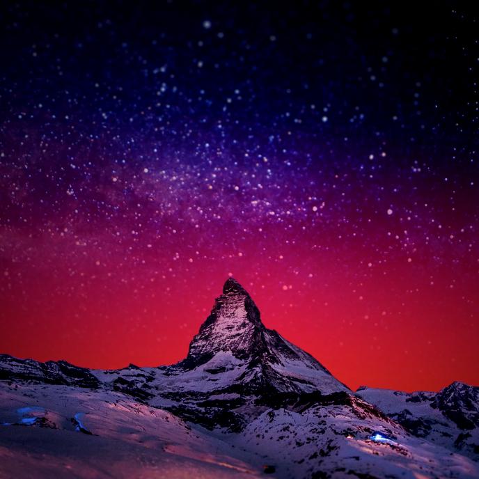 Matterhorn w/ Animated Starscape