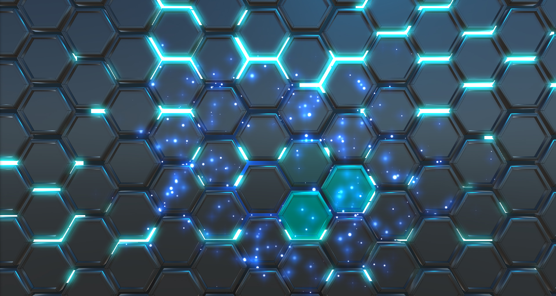 Hexagon Glow Wallpaper Engine
