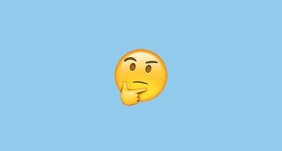 Rubbing chin emoji