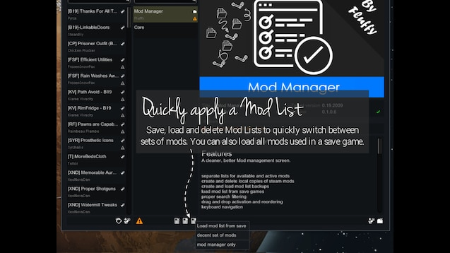 Steam Workshop :: Mod Manager