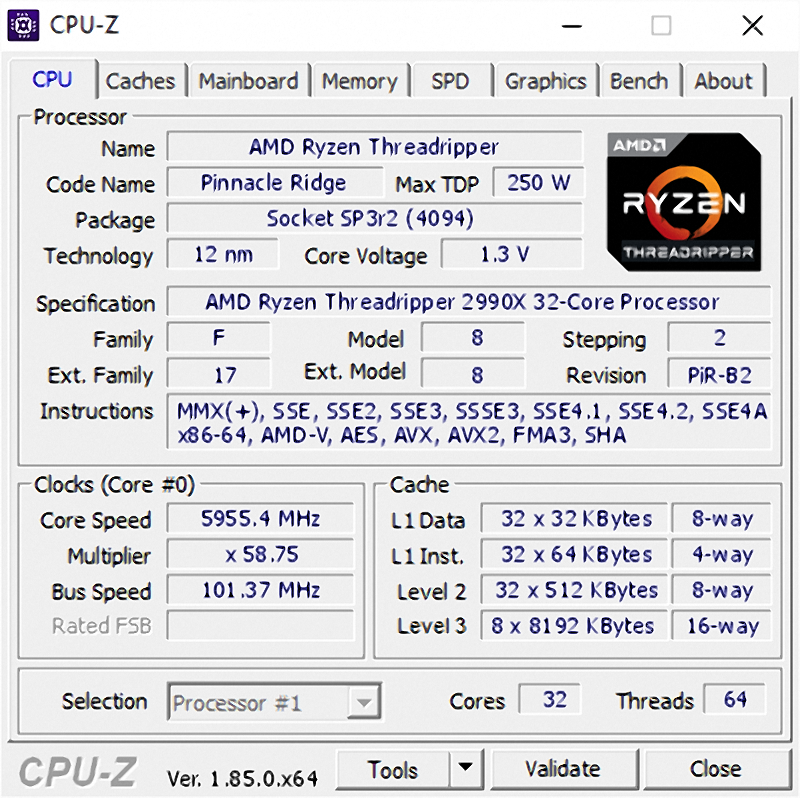 Steam Community :: :: AMD Threadripper 2990wx CPU-Z Overclock