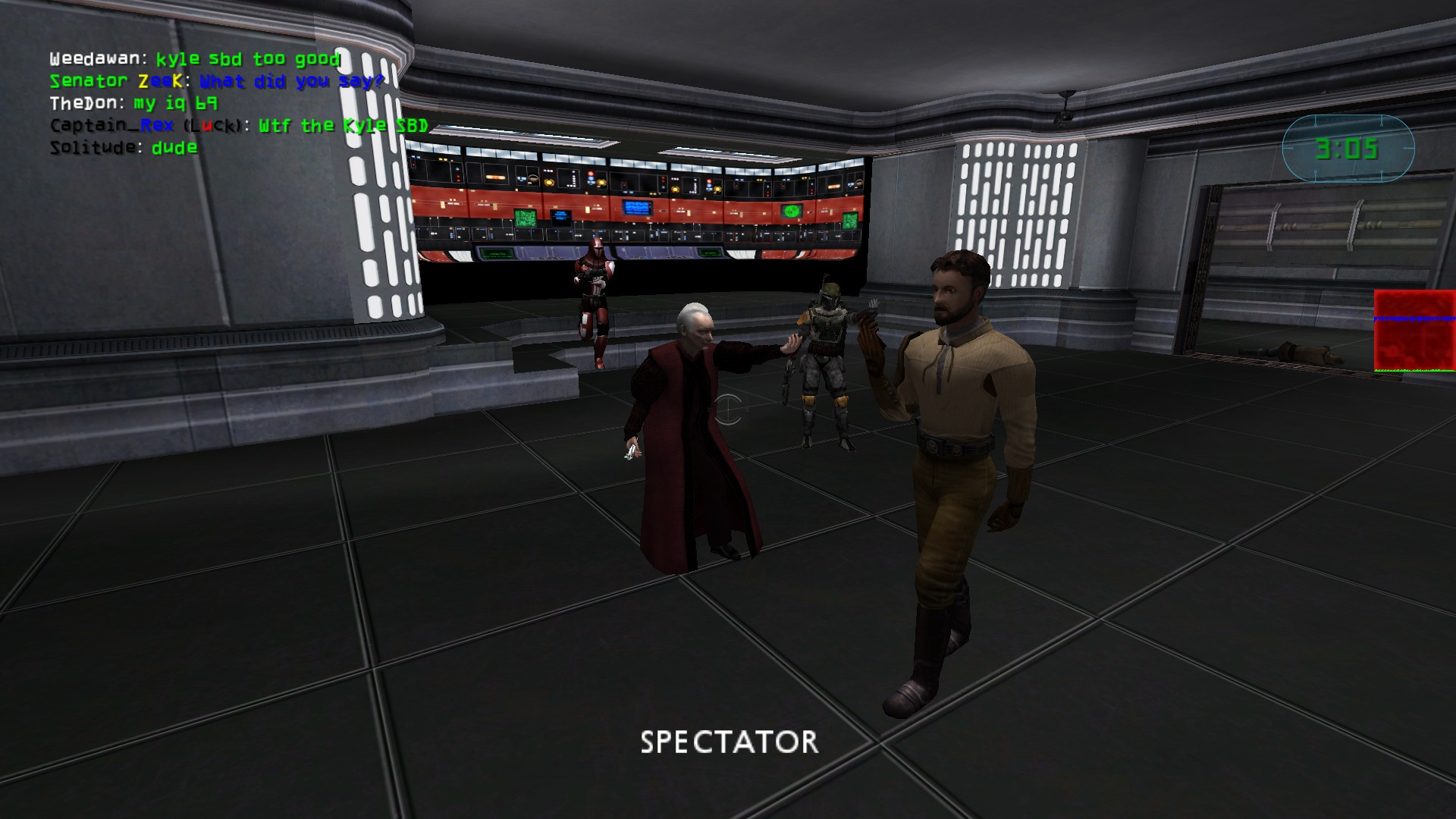 Steam Community Screenshot A Super Battle Droid S Skin Replaced With Kyle Katarn