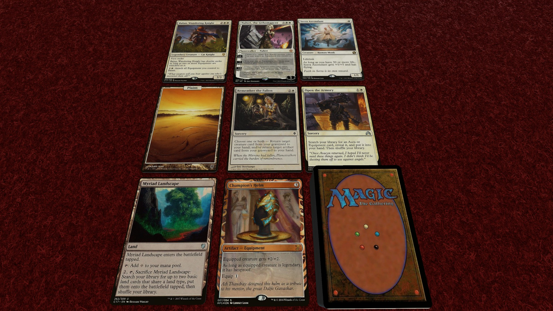 4 X JAPANESE ARGENTUM ARMOR FROM COMMANDER 2017 MTG MAGIC THE GATHERING
