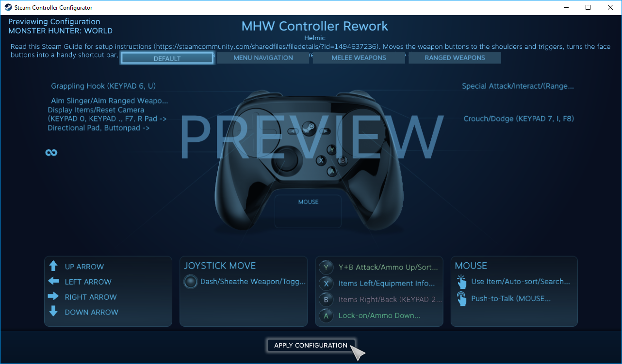 Steam Community :: Guide :: Better MHW Controls: A Steam