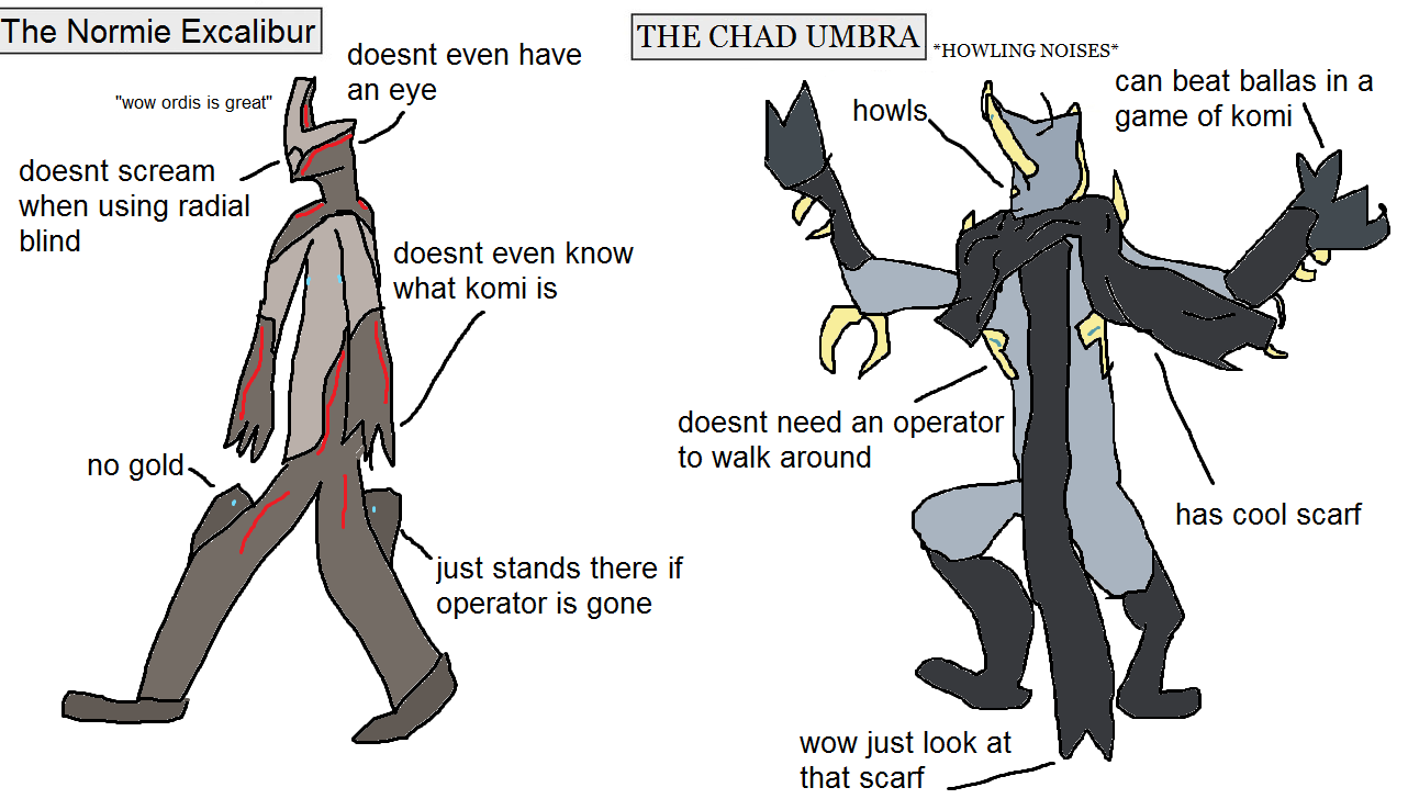 Steam Community :: :: the normie excalibur vs THE CHAD UMBRA