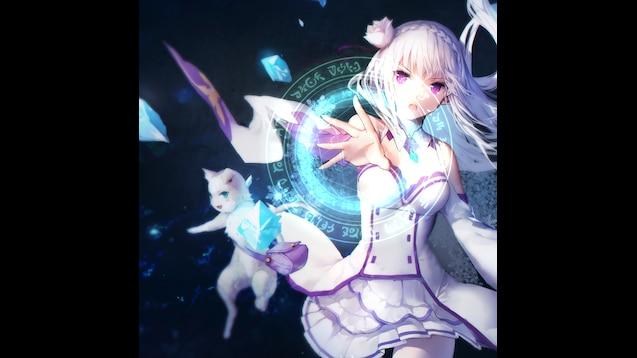 Steam Workshop Rezero Emilia Animated Wallpaper 1440p