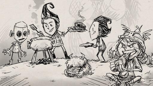 Картинки для легкой срисовки донт старв