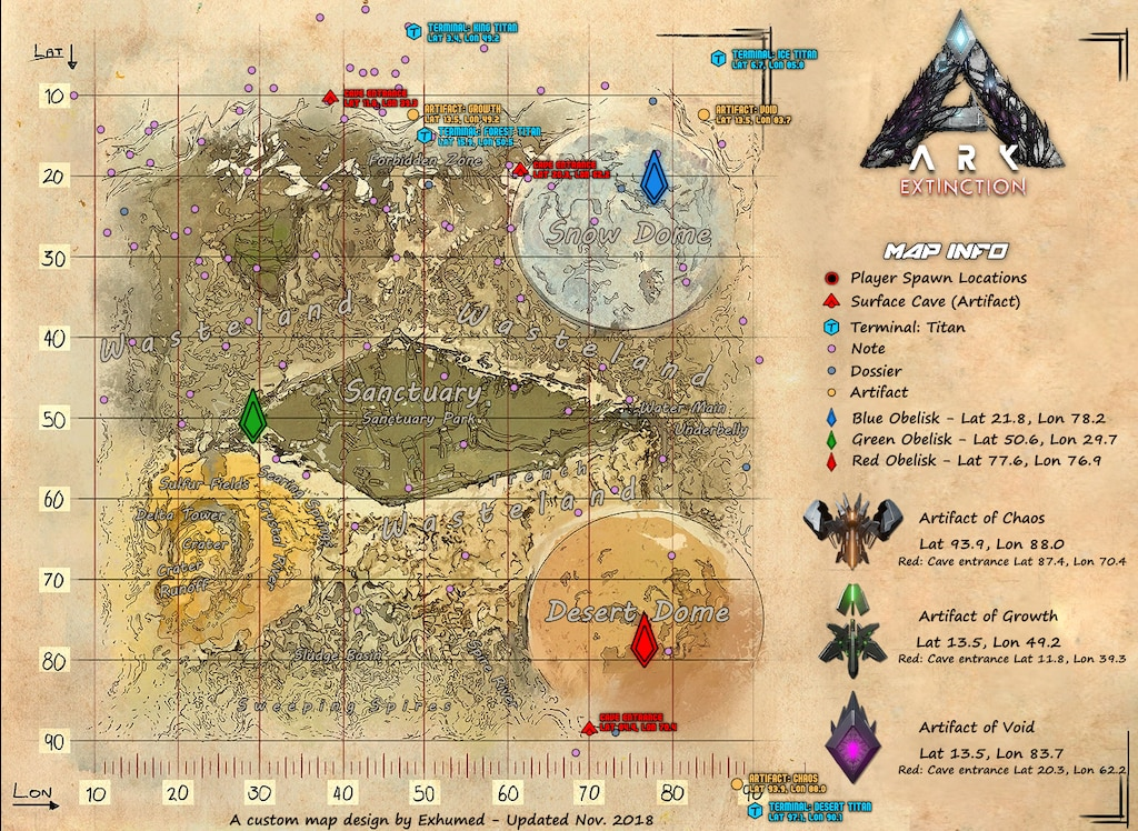 Extinction Resource Map