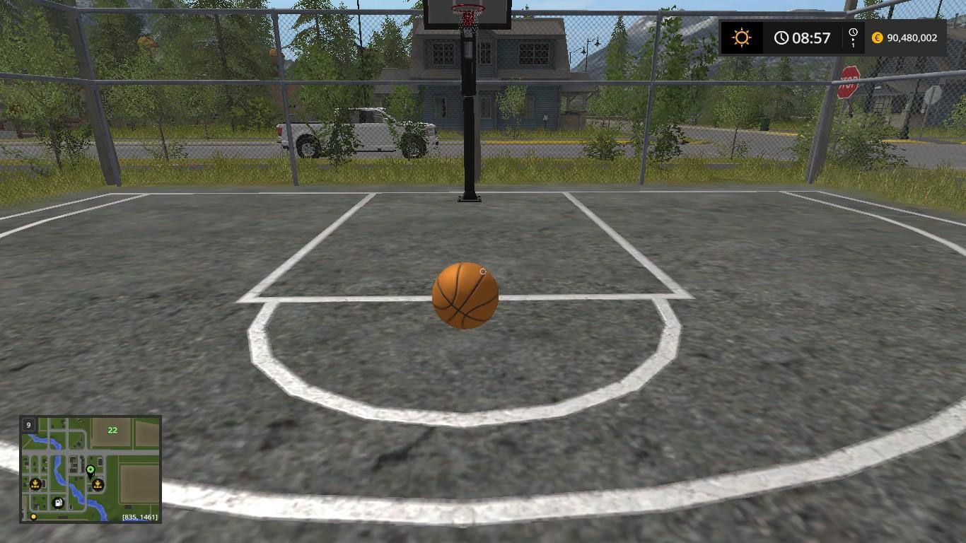 Depois de se posicionar (sem sair da área de lance) tente alguns arremessos  com a bola de basquete e pegue o jeito. Depois de pegar o jeito com a bola  do ... d577689f74fcf
