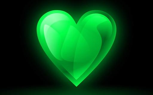 Картинки сердечки на зеленом фоне