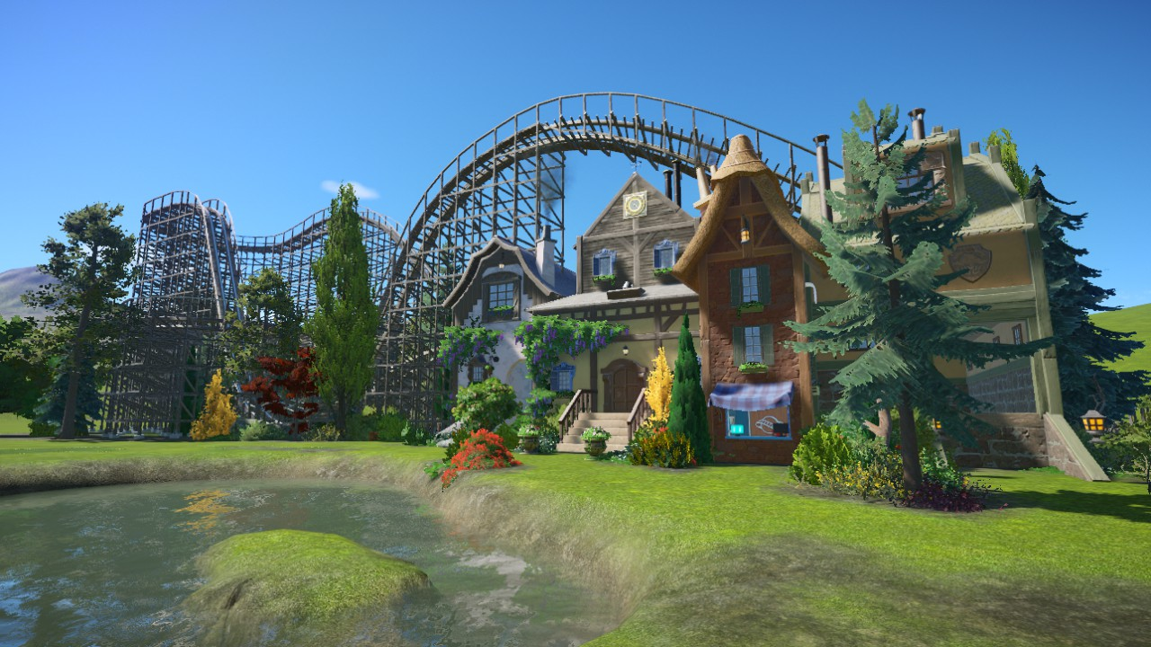 Fairytale Street with Wooden Coaster - Thim_V
