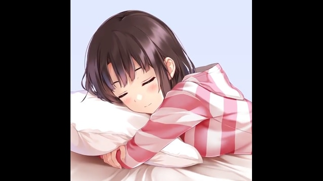 Steam Workshop Sweet Anime Girl Sleeping In The Bed Face Left No Sound
