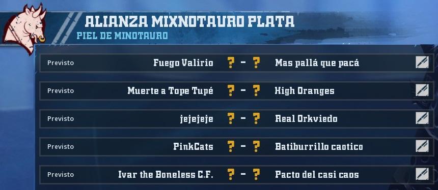 Liga Alianza Mixnotauro 1 - División CUERNO de PLATA / Jornada 4 - hasta el domingo 24 de marzo 85B6E63BCD3E83B6F23FF55B109328B79C8828F1