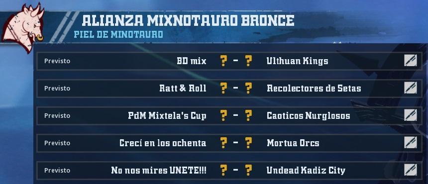 Liga Alianza Mixnotauro 1 - División CUERNO DE BRONCE / Jornada 4  - hasta el domingo 24 de marzo - Página 2 49EFF29F2E3F77FB4712CE3F5F2D5FF9C991F4D7