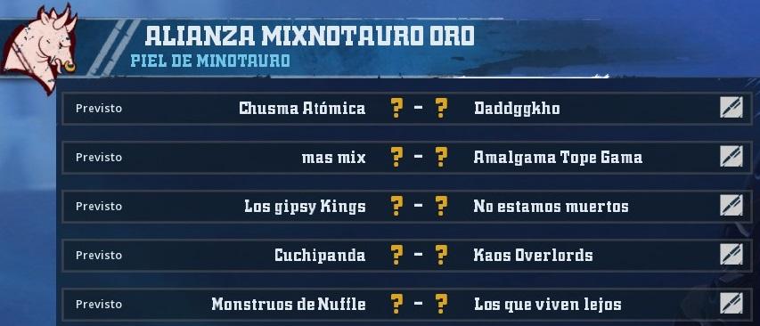 Liga Alianza Mixnotauro 1 - División CUERNO de ORO / Jornada 4 - hasta el domingo 24 de Marzo BA190AC4F5F19B56FF214C22B7DAD13242B20B0C