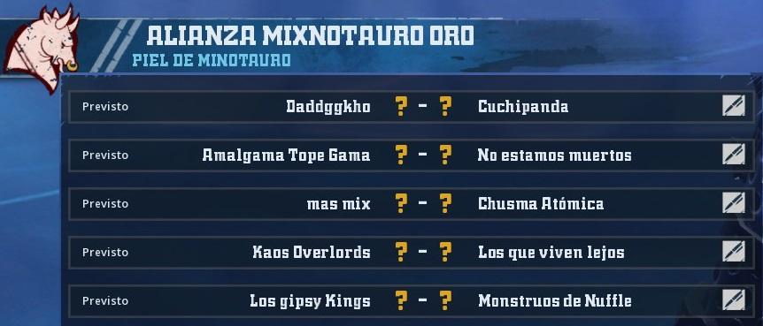 Liga Alianza Mixnotauro 1 - División CUERNO de ORO / Jornada 5 - hasta el domingo 7  de Abril 648FCBDB24F3034F6AF92757FF7B3A6EAC3937E7