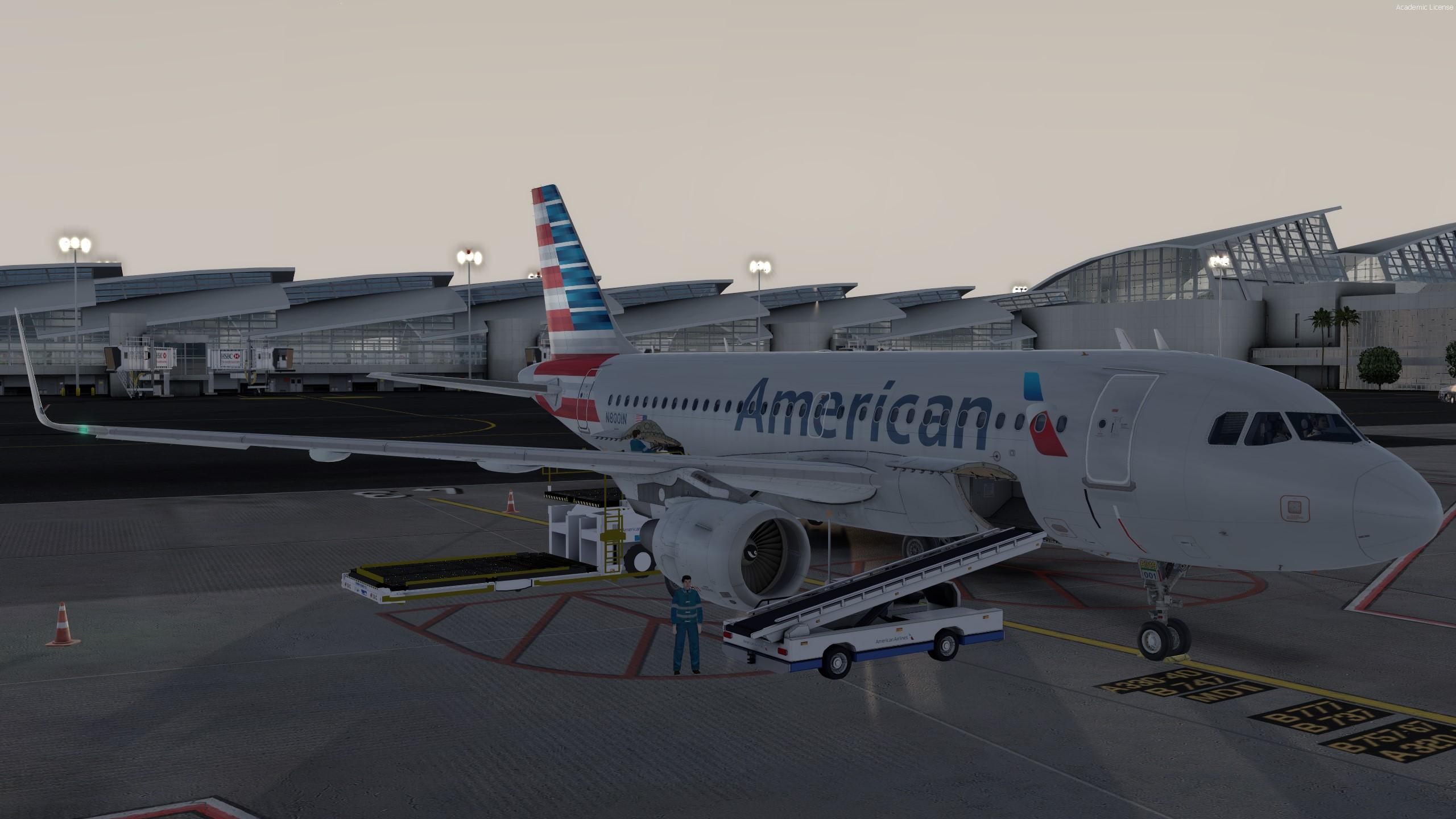 [P3D V4 3] Aerosoft A319 preparing for KLAX to KSFO