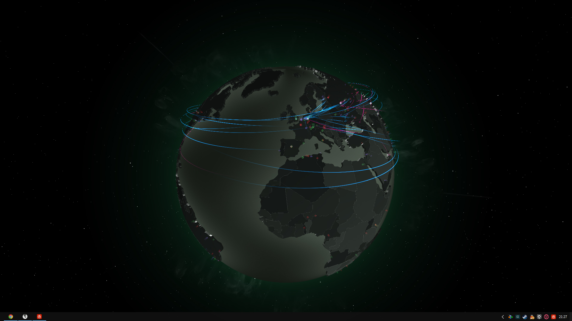 Global Network Traffic Wallpaper Engine