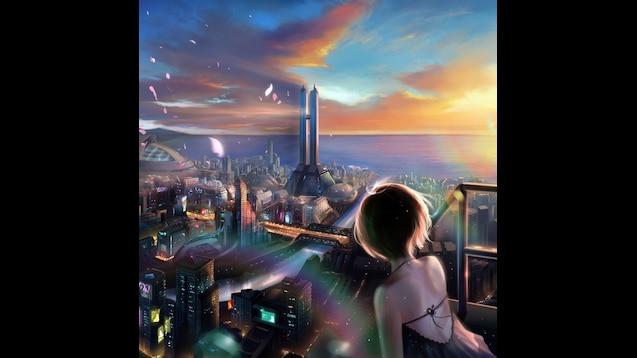 View Anime Cityscape  JPG